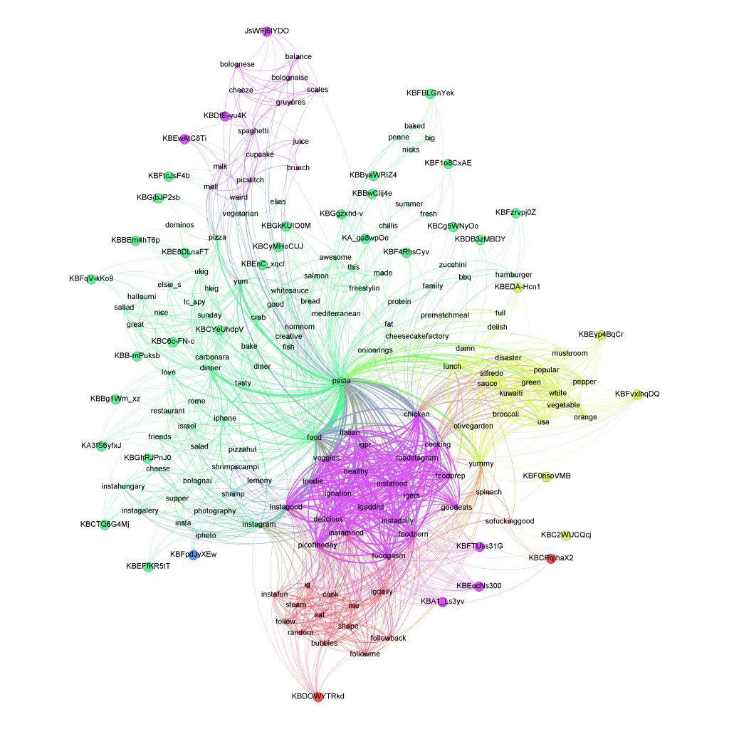 Pasta Social Network Analysis