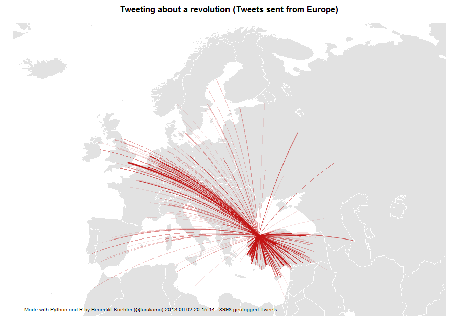 Mentions of the Gezi Park protests on Twitter